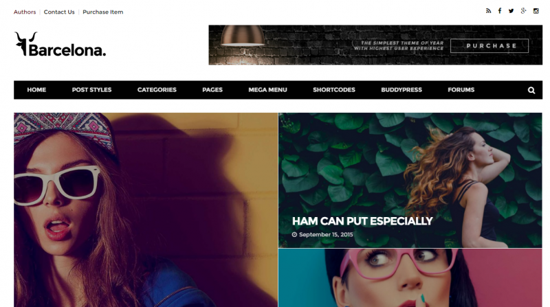 Barcelona Best WordPress Premium Responsive Template
