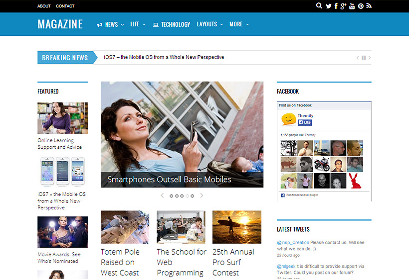 Magazine-Wordpress-Premium Responsive Template-Themify