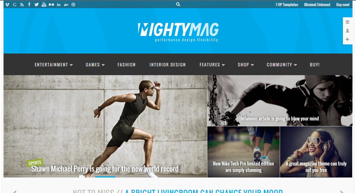 MightyMag WordPress Premium Responsive Template