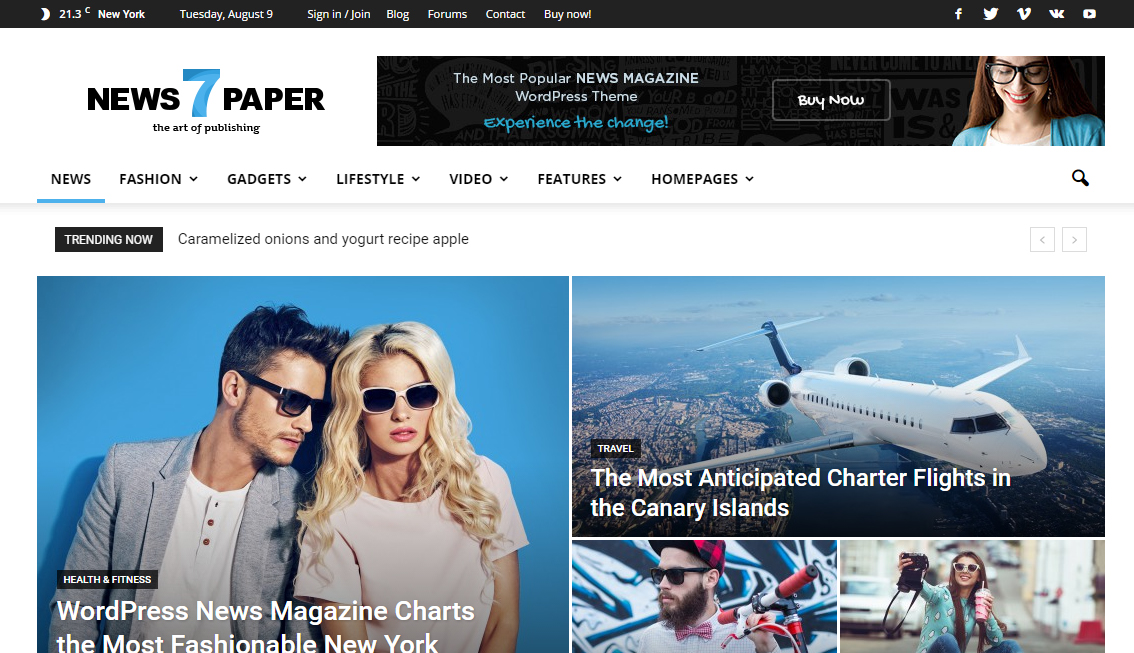 Newspaper-Wordpress-Premium Responsive Template