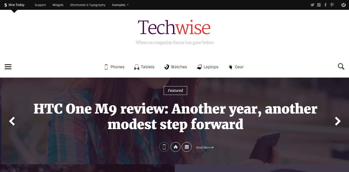 TechWise WordPress Responsive Template