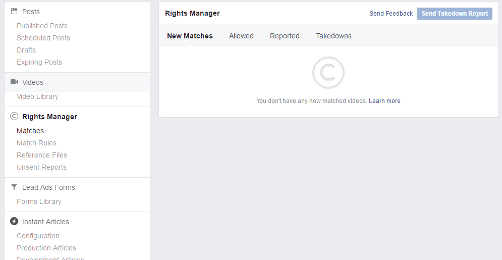 Facebook CopyRights Manager Tool Preview