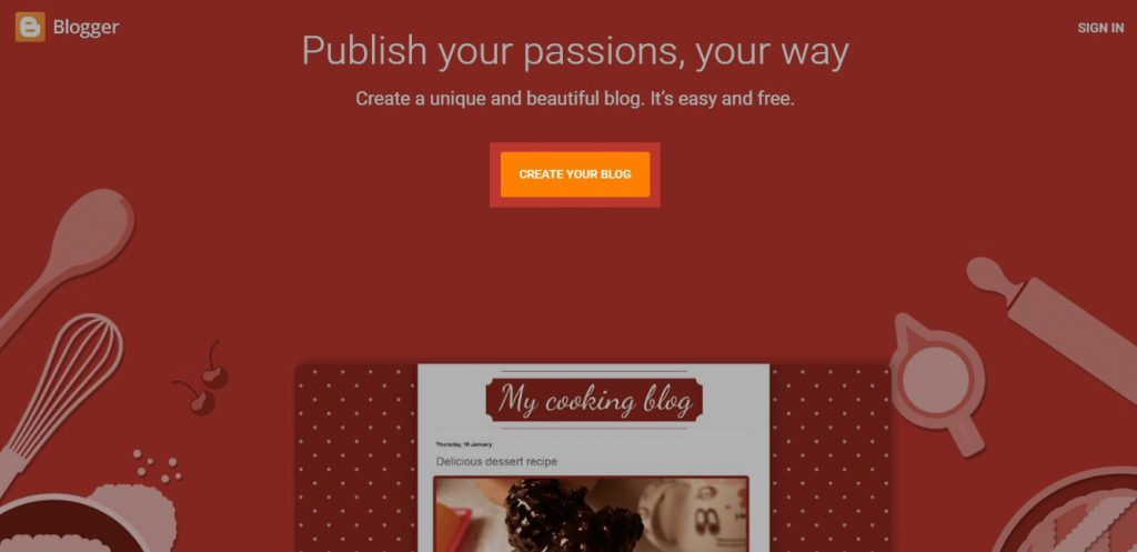 Create Blogspot Blog Step 1