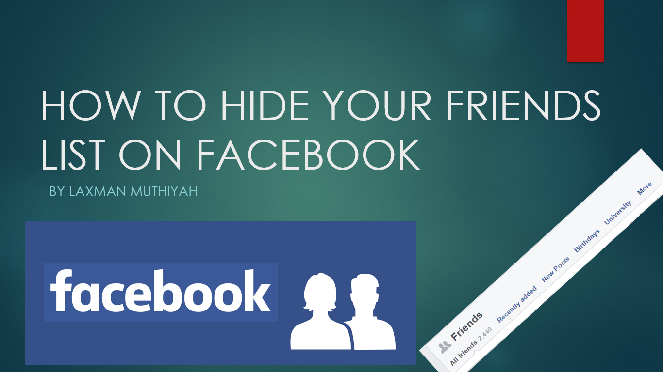 How To Hide Your Friends List On Facebook - The Zero Hack