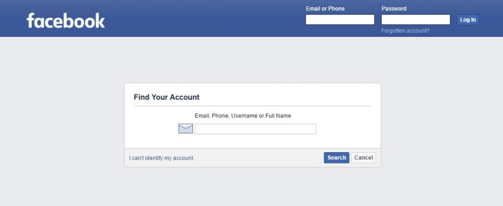 Recover Hacked Facebook Account - Forgot Password
