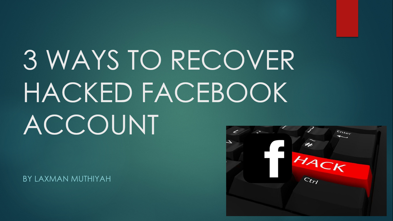 3 Ways To Recover Hacked Facebook Account The Zero Hack Hack4me allows you to recover a facebook account in just minutes from the id and directly from our site. ways to recover hacked facebook account
