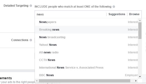 Facebook Detailed Audience Targeting Post Engagement