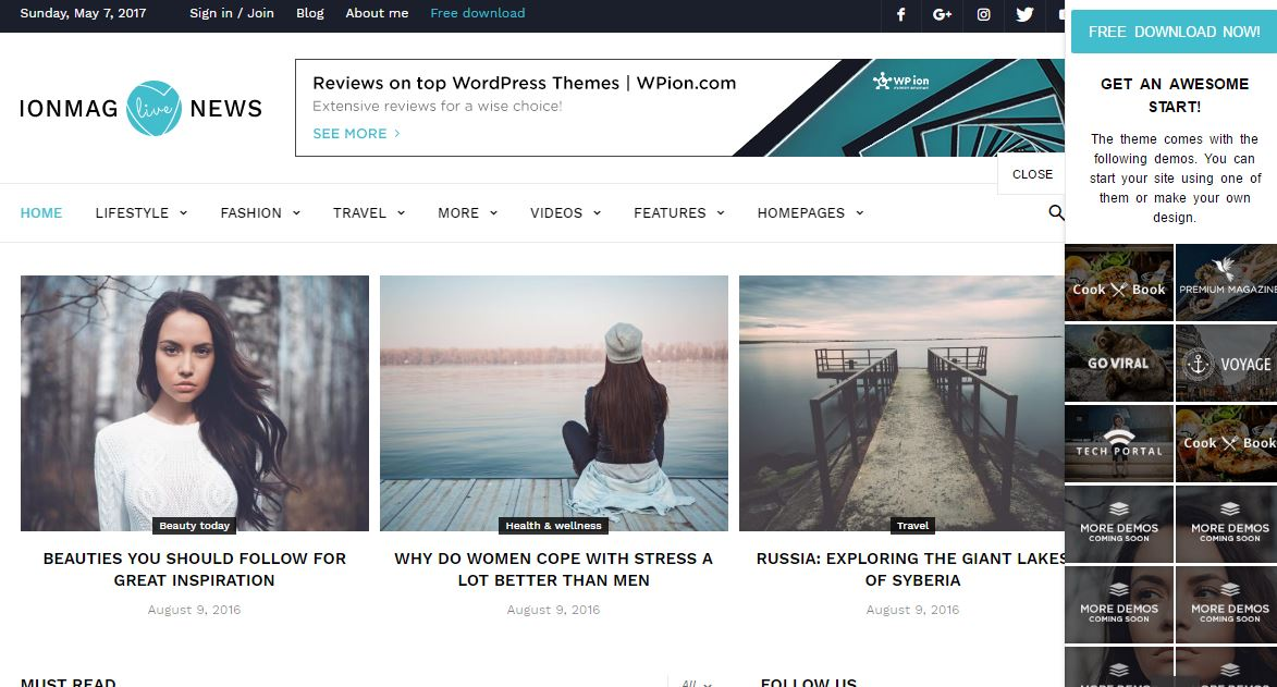 IonMag Free WordPress Theme