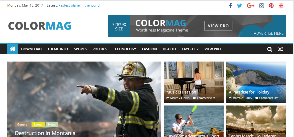 colormag free best wordpress theme
