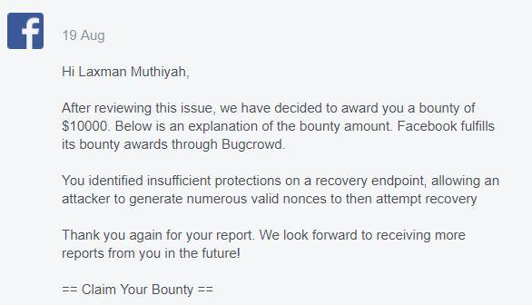 10k bounty facbook